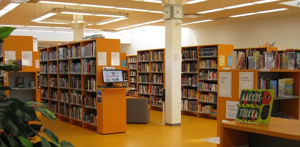 Yleisnäkymä kirjastosalista