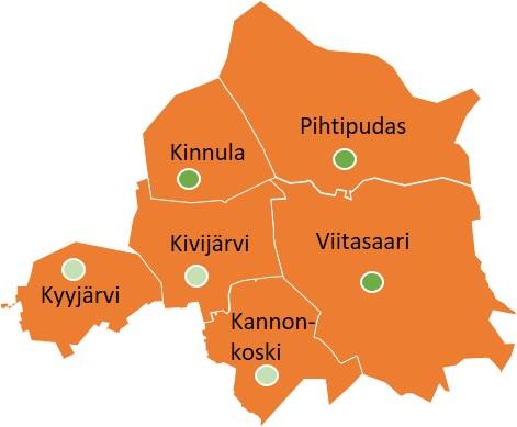 Rakennusvalvonnan toimialuetta ovat Viitasaaren, Pihtiputaan, Kinnulan, Kyyjärven, Kivijärven ja Kannonkosken kunnat. Kiinteät toimipisteet sijaitsevat Viitasaarella, Pihtiputaalla ja Kinnulassa sekä viikoittaiset vastaanotot myös Kyyjärvellä, Kivijärvellä ja Kannonkoskella.
