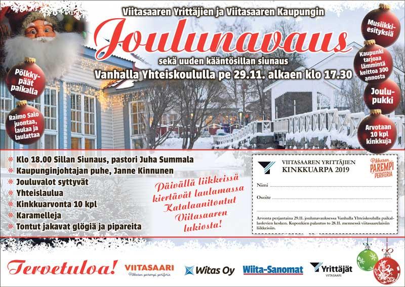Joulunavausilmoitus, samat sisällöt esillä tekstissä