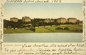 Vanha piirroskuva Jyväskylän seminaarista