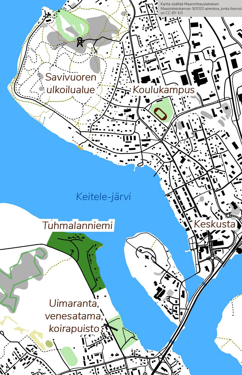 Tuhmalanniemen sijaintikartta